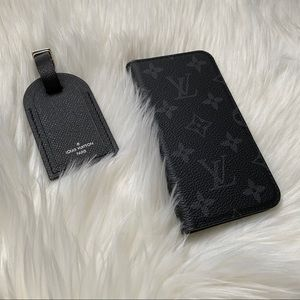 Louis Vuitton Monogram Eclipse Folio IPhone X Case